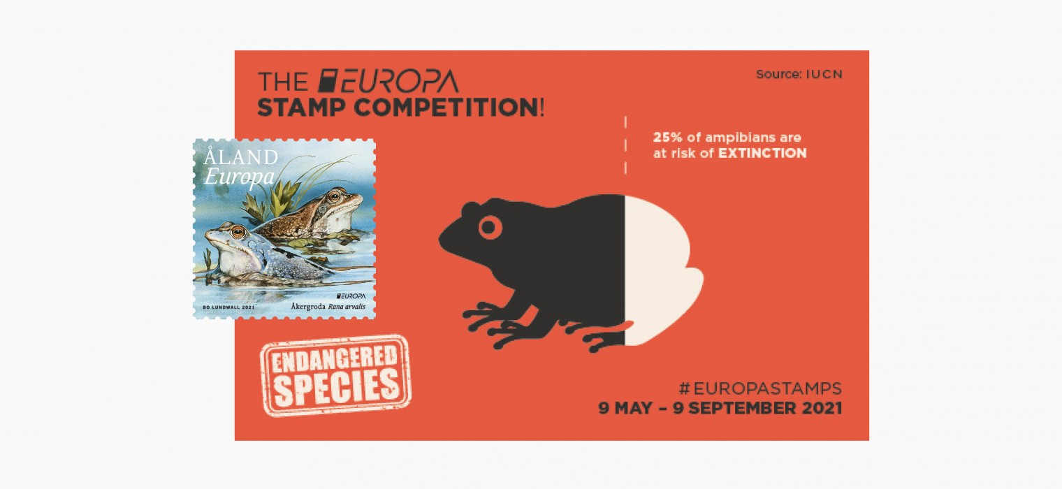 Europa 2021 stamp competition endangered wildlife