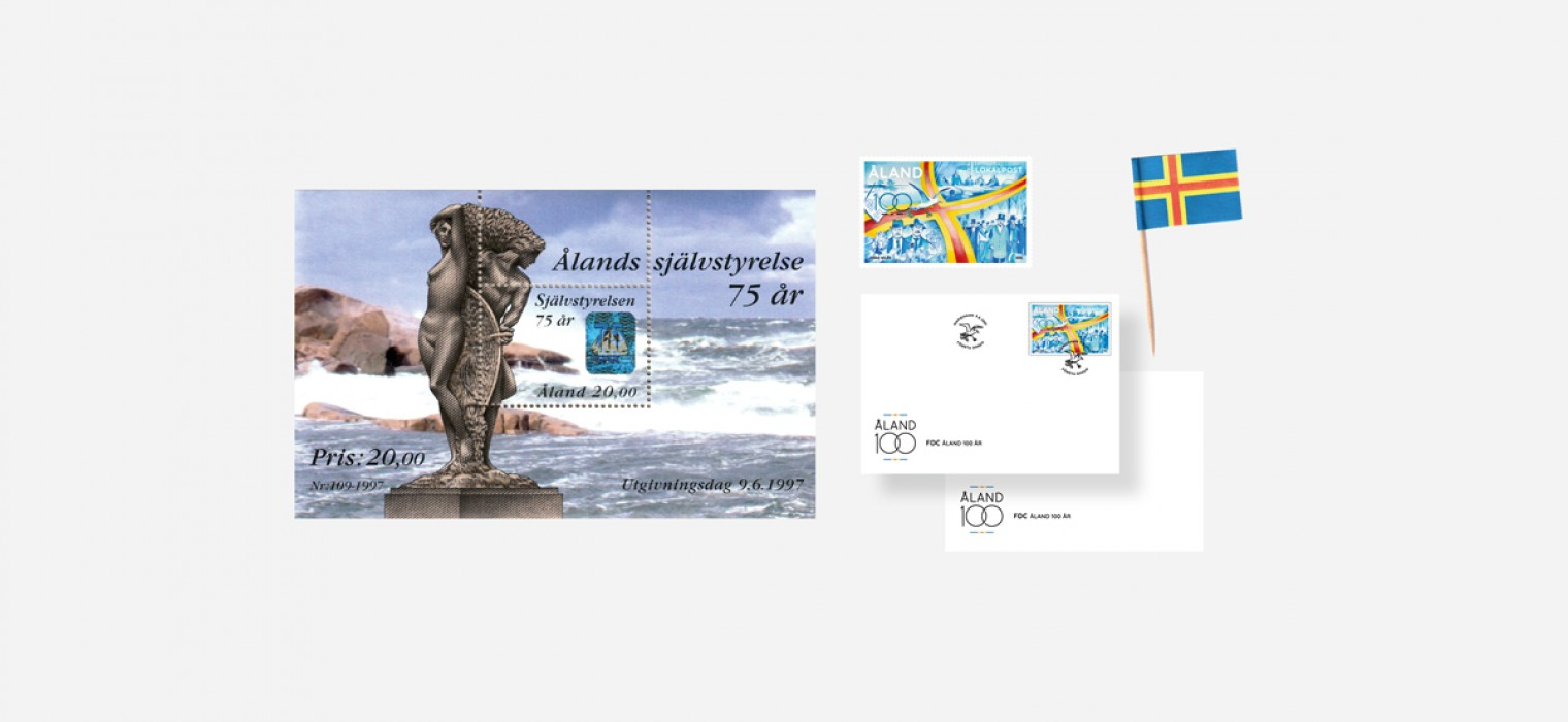 Åland 100 years stamp special offer