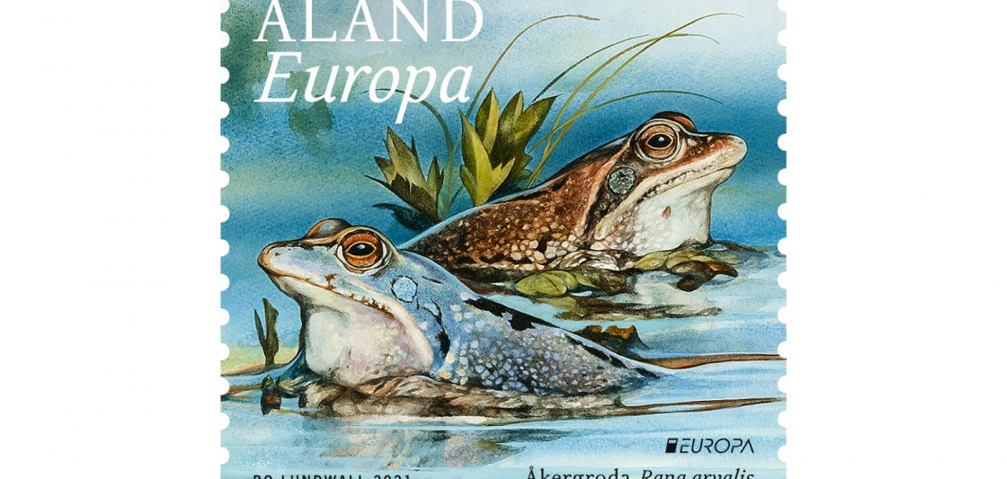 Åland 2021 Europa stamp moor frogs