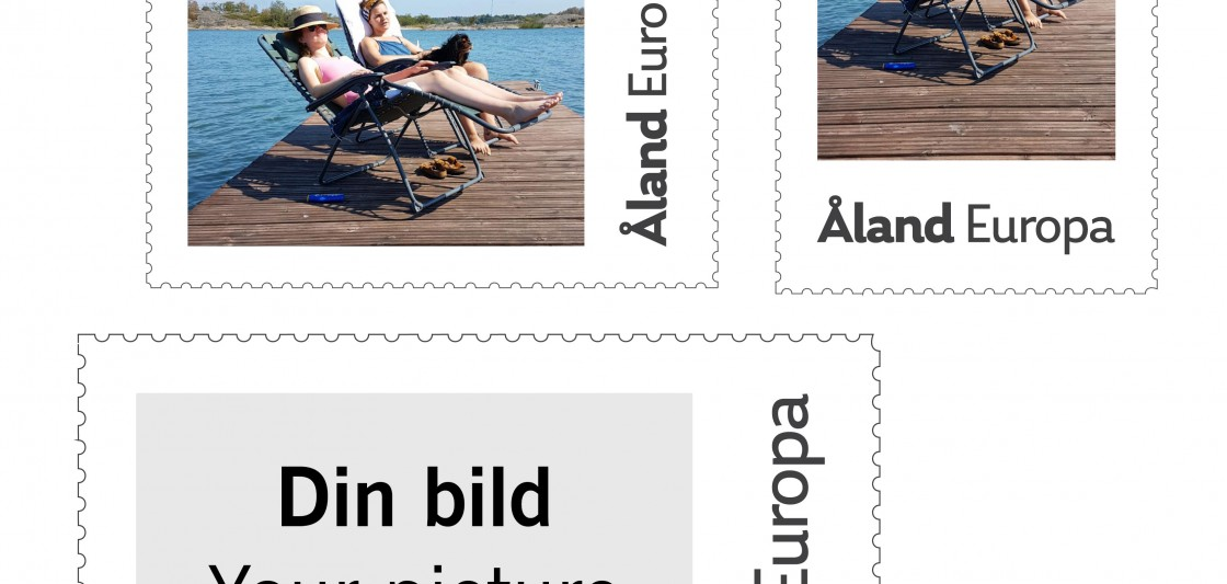 personalised stamps from Åland