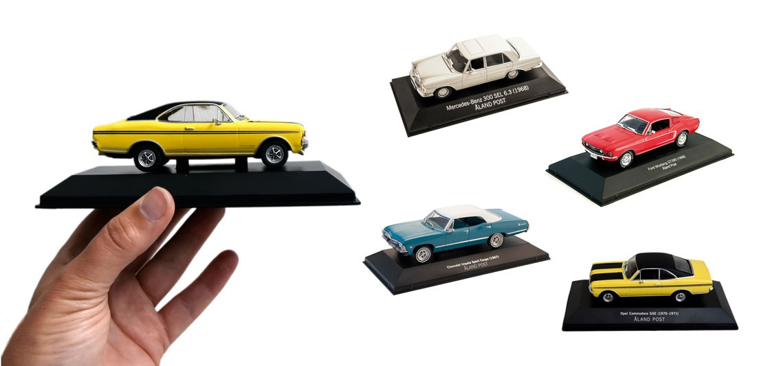 4 nostalgia model cars from Åland
