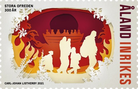 Åland 2021 stamp 300 years great northern war