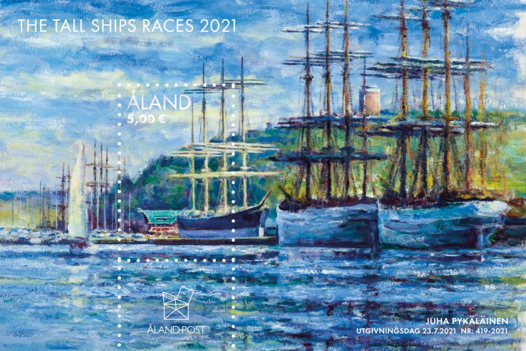 Åland 2021 miniature sheet Tall Ships Races