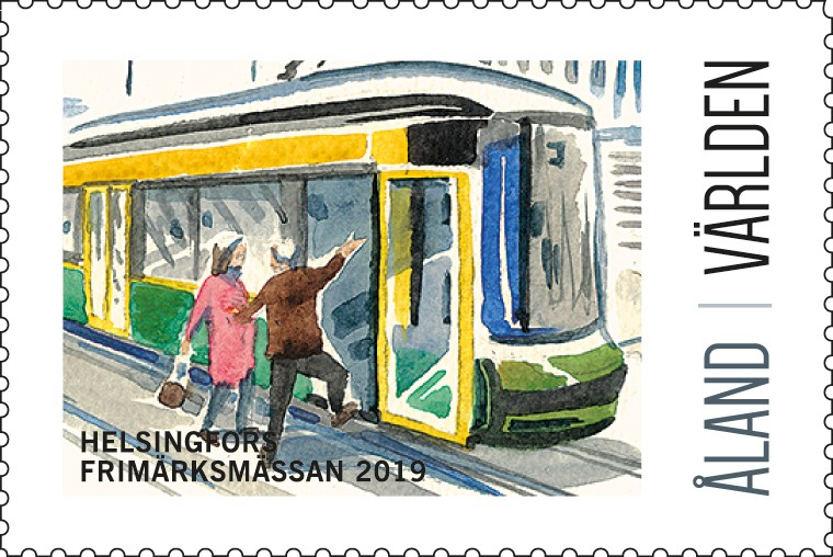 Exhibition stamp 2019 Helsinki