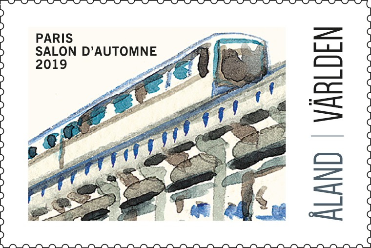 Exhibition stamp 2019 Paris