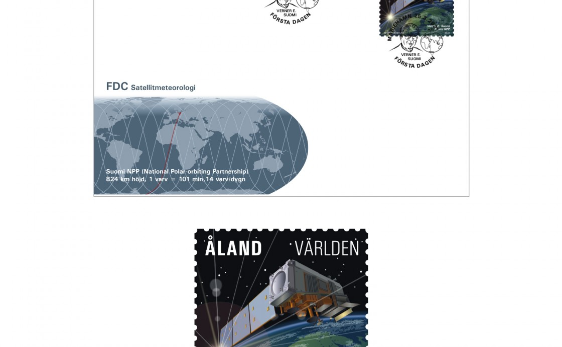 Åland stamp Satellite meteorology Suomi NPP