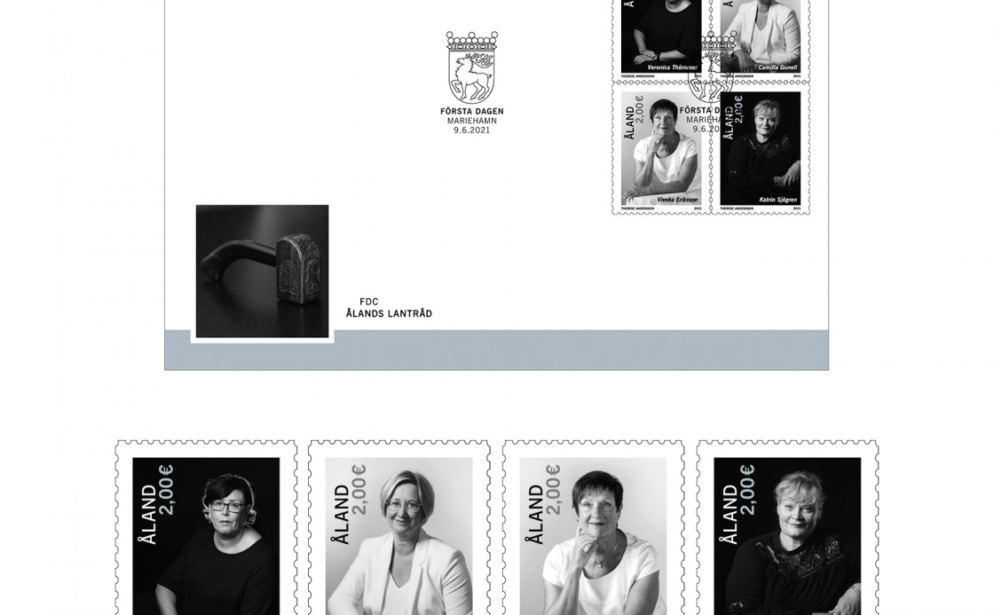 Four female premiers of Åland on stamps 2021