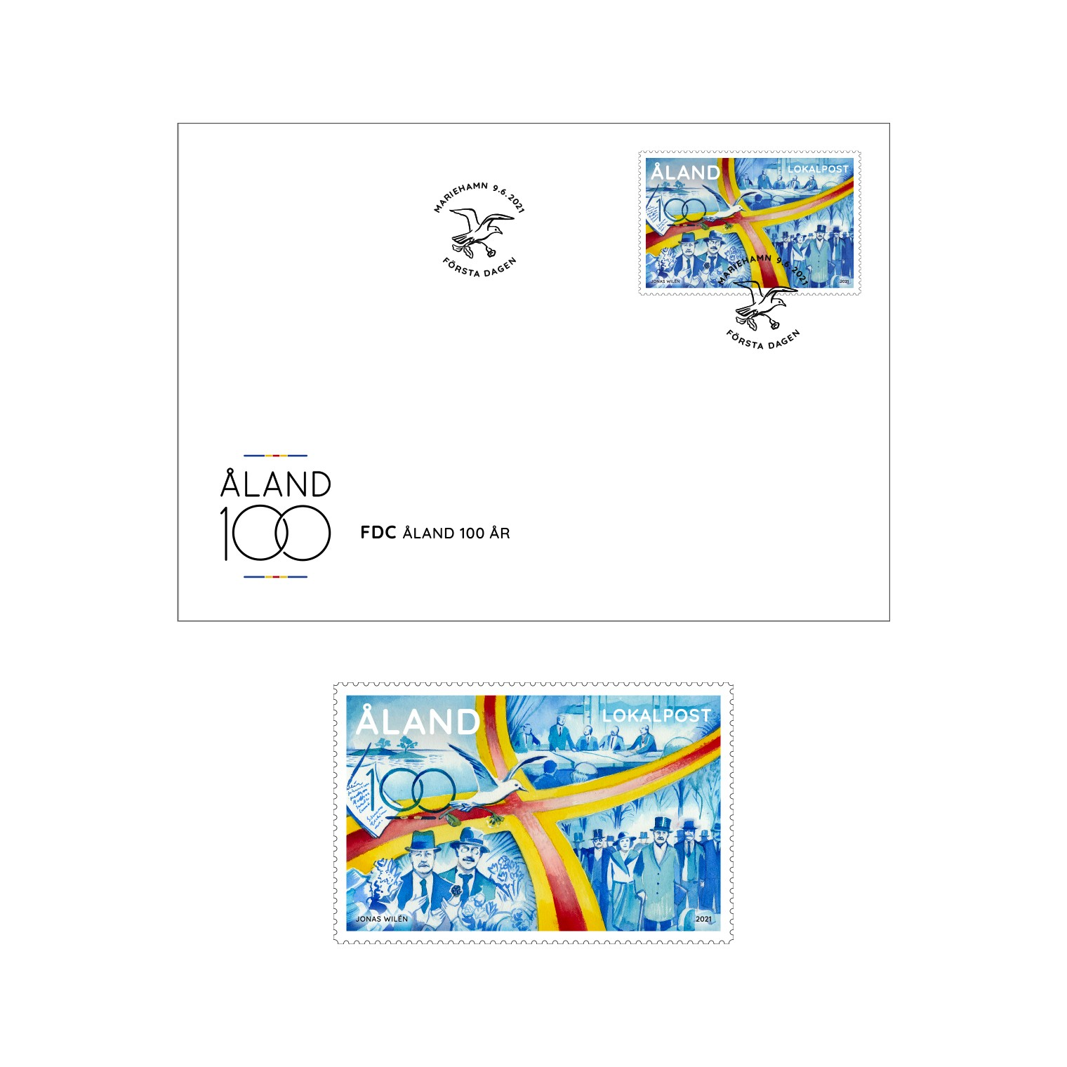 Åland 100 years stamp celebrate road to autonomy