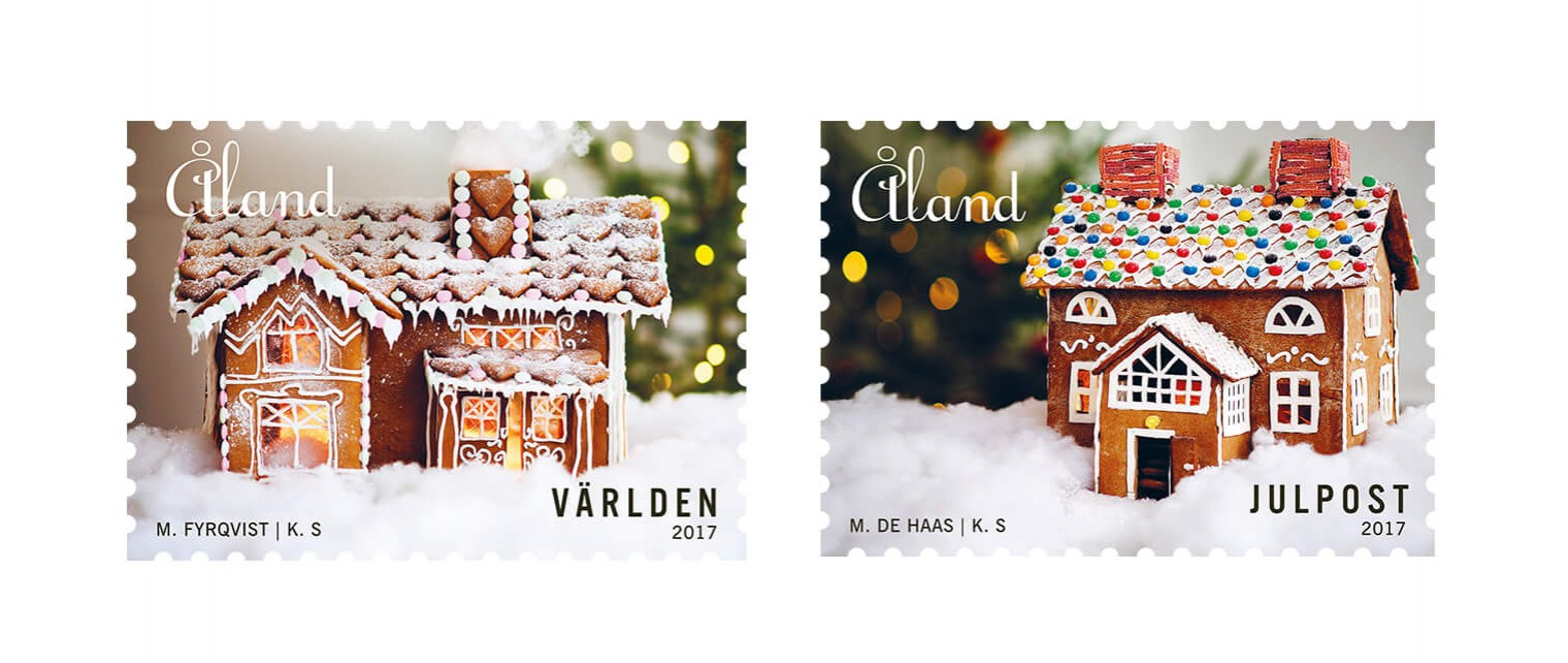 appearing on 9 october the gingerbread houses featured on this years christmas stamps bring out the flavour and spirit of christmas