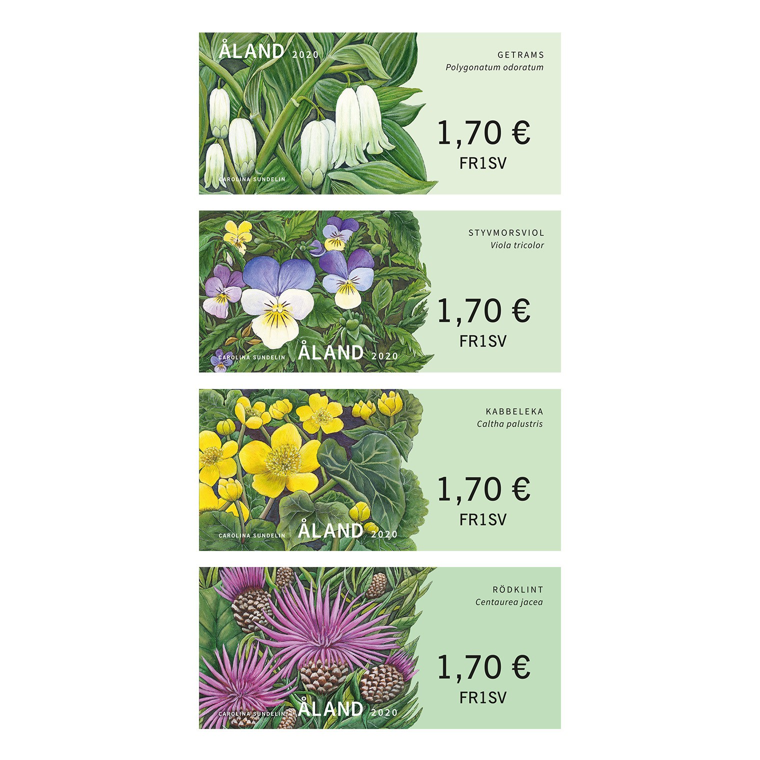 wild flowers franking labels